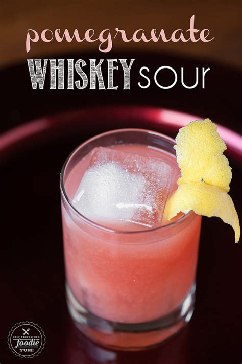 pomegranate whiskey sour mon cheri bridals