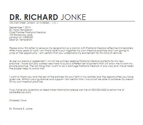 sle of formal letter to doctor doctor letter template 17 free sle exle format