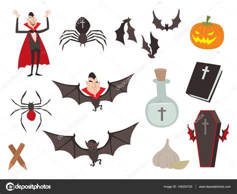 simbolos o imagenes de halloween ata 250 d de vector de dibujos animados dracula viro iconos