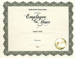 Employee Of The Year Certificate Template Free by Other Free Award Templates Geographics