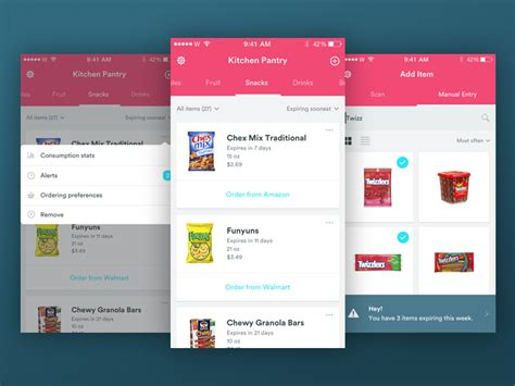 In Pantry App by Design Challenge Pantry App By Zarin Ficklin Dribbble