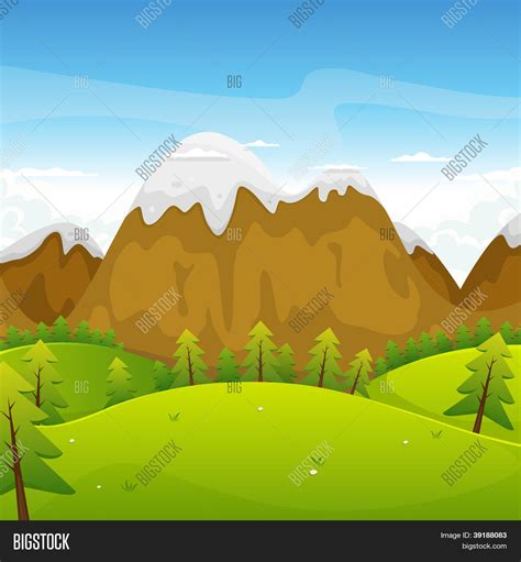 imagenes de paisajes animadas cartoon mountains landscape vector photo bigstock