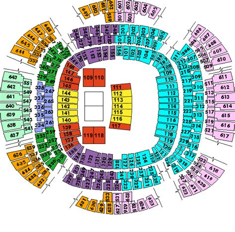 saints superdome seating map louisiana superdome detailed seating chart