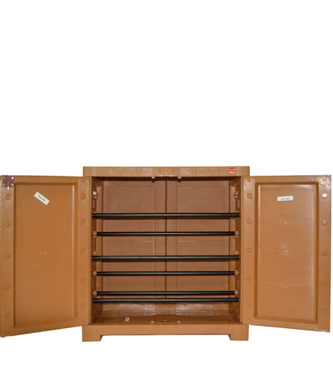 buy novelty compact shoe rack in brown colour by cello moulded plastic shoe racks