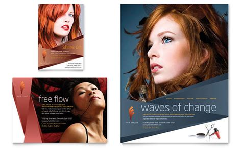 hair stylist salon flyer ad template design