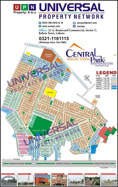 central map central park map housing scheme map lahore updated maps