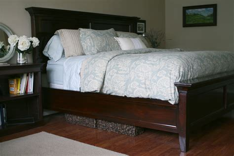 diy farmhouse bed from 2 ana white plans simply darling designs farmhouse bed