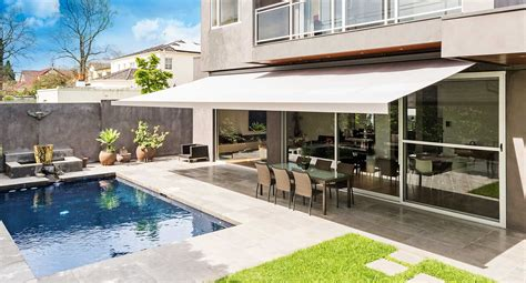 yard awnings protect your home by durable and strong outdoor awnings carehomedecor
