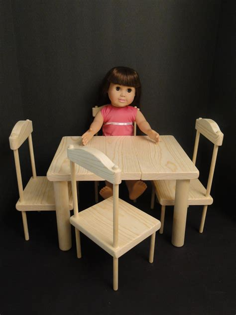 18 inch doll table set table chair set for 18 inch dolls 0114
