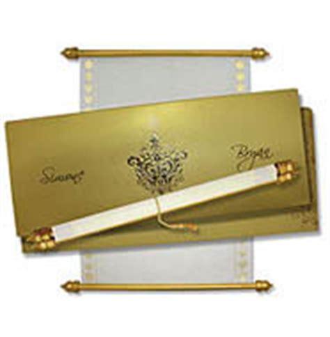 scroll wedding invitations in new york boxed scroll invitations