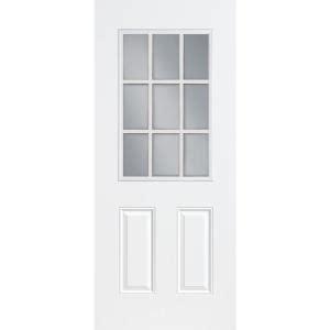32x80 Exterior Door Masonite 36 In X 80 In Premium 9 Lite Primed Steel Prehung Front Door With No Brickmold 28362