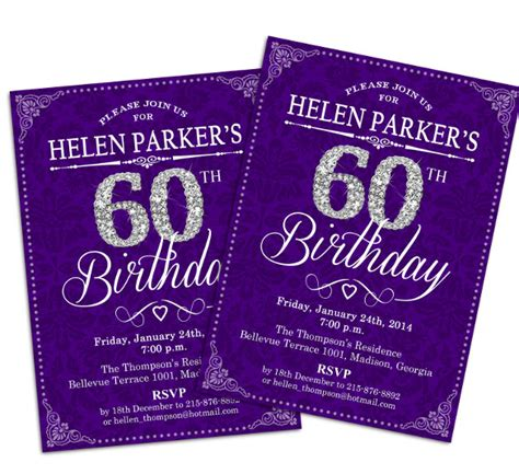 printable 60th birthday invitations templates 60th birthday invitations gangcraft net
