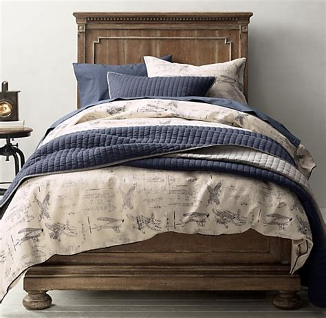 vintage bedding vintage airplane blueprint vintage washed percale bedding collection