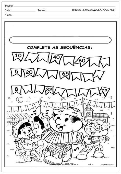 Atividades Festa Junina para Educação Infantil - Complete