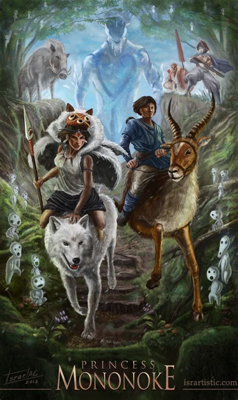 the geeky nerfherder movie poster art princess mononoke