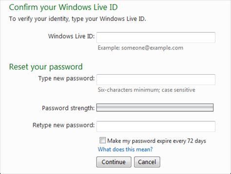 reset windows me password how do i reset my windows live password ask dave taylor