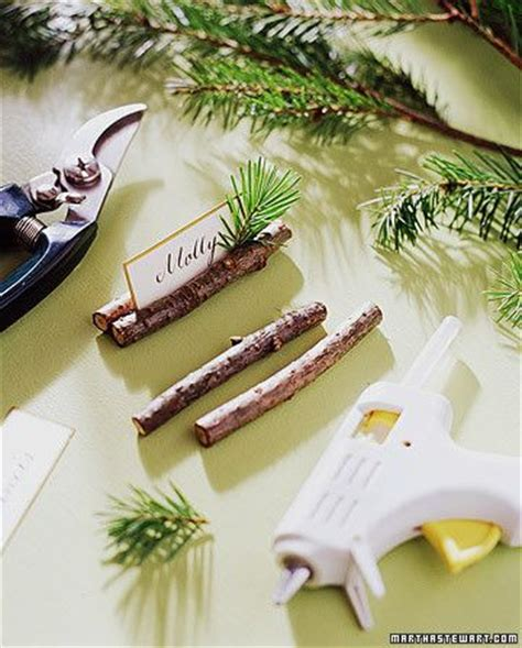 place card holder ideas evergreen place card holders christmas ideas pinterest