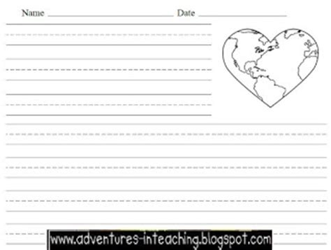 earth day writing paper earth day activities adventures in teaching