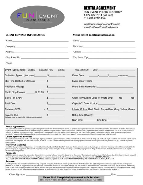 planner contract template planner contract template search business