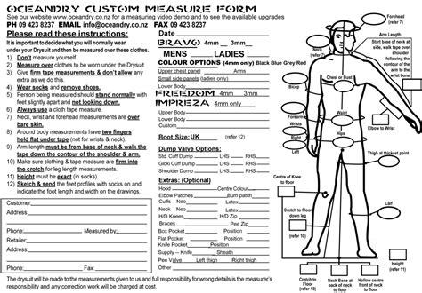 Suit Measurements Template Templates Station Suit Measurements Template