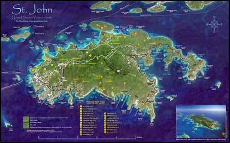 st map usvi st usvi map beautiful scenery photography