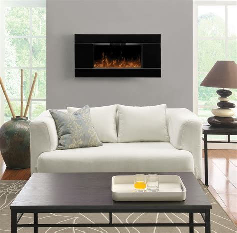 Contemporary Home Decorations Bright Wall Mount Electric Fireplace Convention Other Metro Traditional Living Room Decorating