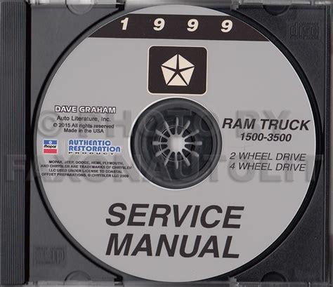 dodge ram 1500 van repair manual 1999 2003 1999 dodge ram 1500 3500 truck repair shop manual cd
