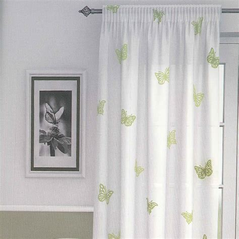 white curtains with butterflies butterfly green curtain voile panel harry corry limited