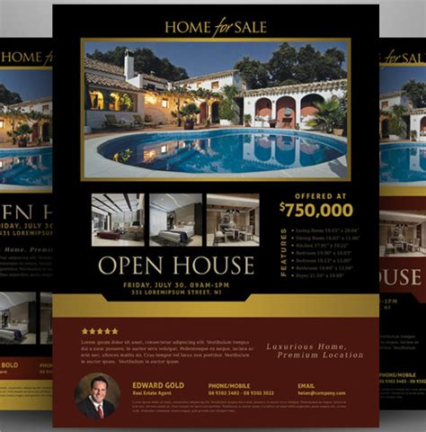 open house template open house flyer 18 in psd pdf word