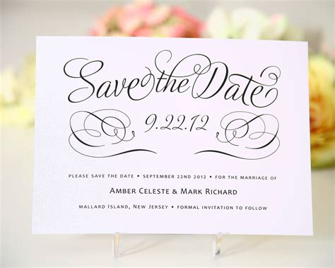 wedding invitation save the date template save the date cards templates for weddings