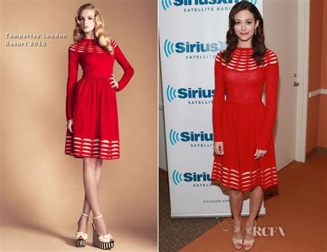 Catwalk To Carpet Emmy Rossum emmy rossum in temperley siriusxm studio