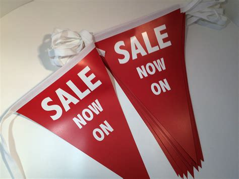 Sale Bunting Flag Hbd Colorful bespoke sale bunting discount bunting and promotional bunting for shop floors and exhibitions