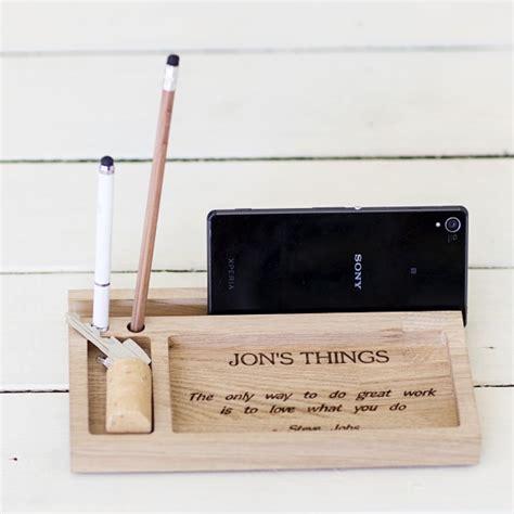 personalised office desk gifts gift store personalised oak wood desk organiser