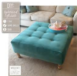 How To Make An Ottoman Out Of A Coffee Table Diy Upholstered Ottoman Wouldn T It Be Lovely