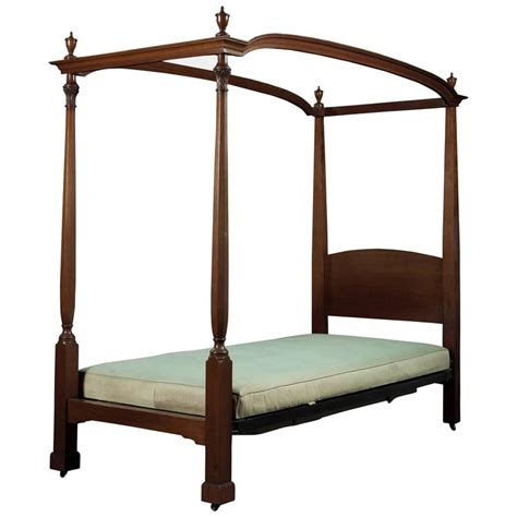 Four Poster Single Bed Frame Mahogany Four Poster Single Bed For Sale At 1stdibs