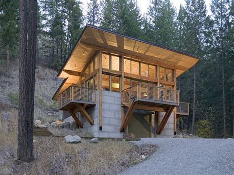 Hillside Cabin Plans | cabin built into hillside plans homes built into hillsides