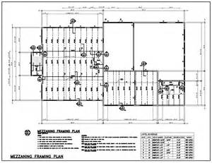 steel floor framing plan cad portfolio professional cad outsourcing services
