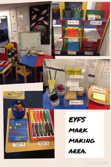 themes for early years education eyfs mark making area preschool pinterest mark