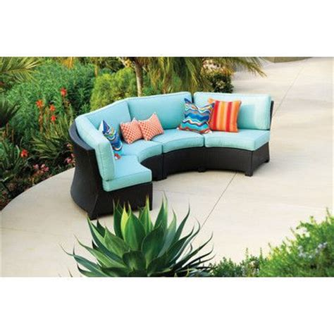 Outdoor Sectional Sofa Canada by Modern Curved Outdoor Wicker Sectional Sofa Canada