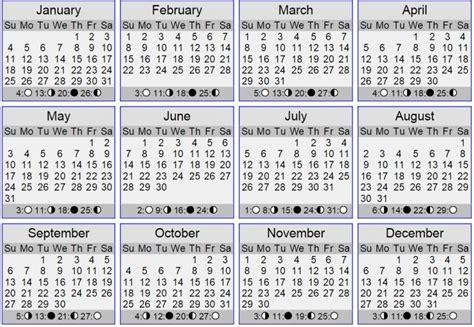 Lunar Calendar Template