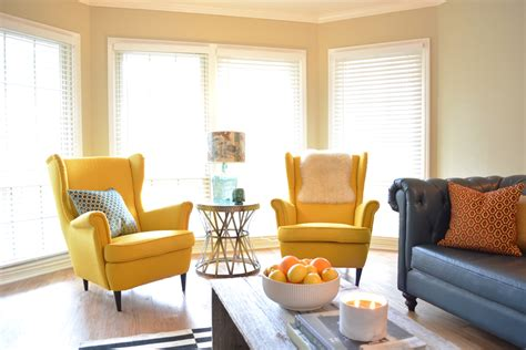 yellow chairs living room living room decorating design