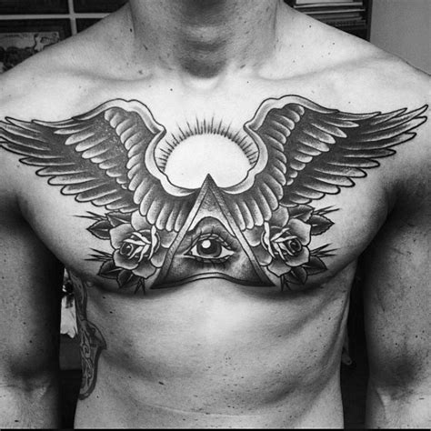 tattoo eye with wings 101 best chest tattoos for men