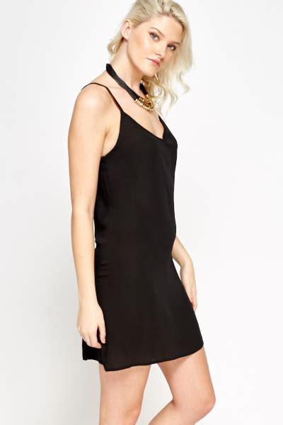 spaghetti swing black spaghetti swing dress just 163 5