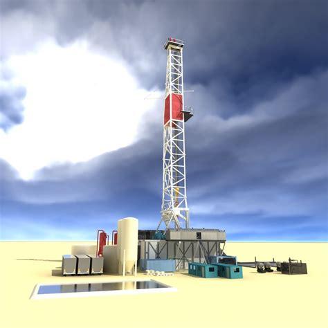 drilling rig image land rig site 1 3d animation oil drilling rig land based 3d model