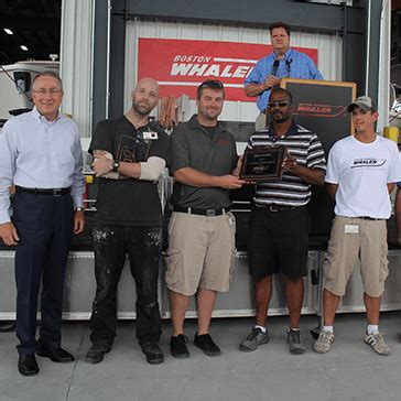 edgewater boats ceo brunswick ceo presents boston whaler with chairman s