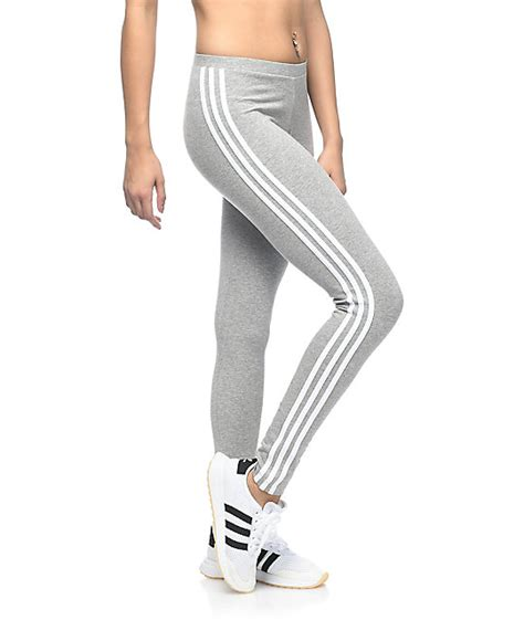 Legging Winter Stripe 3 7 adidas 3 stripe medium grey zumiez
