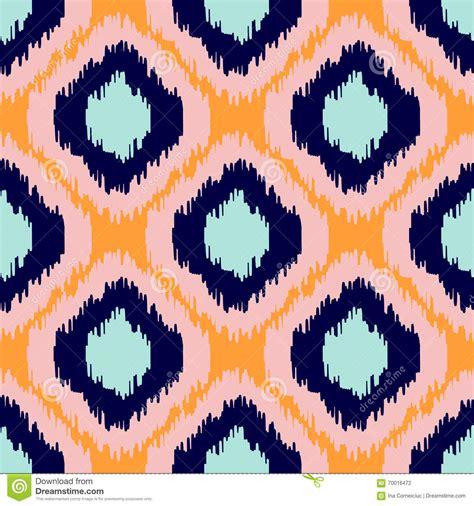indonesia travel pattern ikat geometric seamless pattern orange and blue