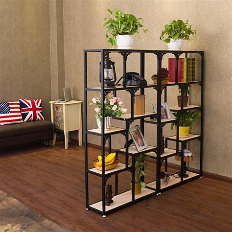 living room display shelves iron the living room wood bookcase shelves display showcase flower jewelry rack shelf ikea