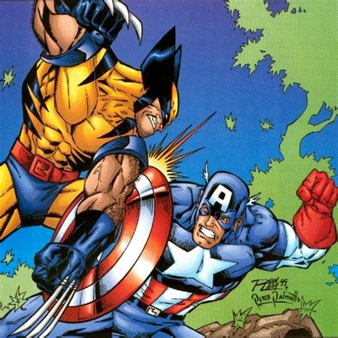 captain america vs wolverine wallpaper wolverine vs captain america by peterpalmiotti on deviantart
