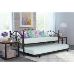 Daybed Frame With Trundle Daybed And Trundle White Metal Bed Frame Spare Guest Sofa Futon Ebay
